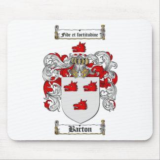 ESCUDO DE LA FAMILIA DE BARTON - ESCUDO DE ARMAS MOUSEPADS