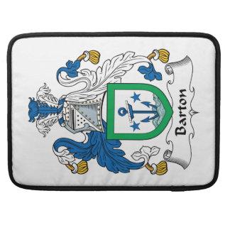 Escudo de la familia de Barton Funda Para Macbook Pro