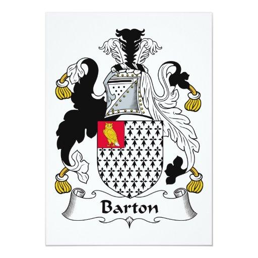 Escudo de la familia de Barton Comunicado Personalizado