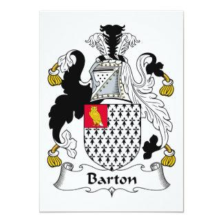 """Escudo de la familia de Barton Invitación 5"""" X 7"""""""