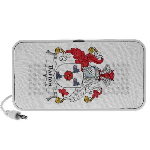Escudo de la familia de Barton iPod Altavoces