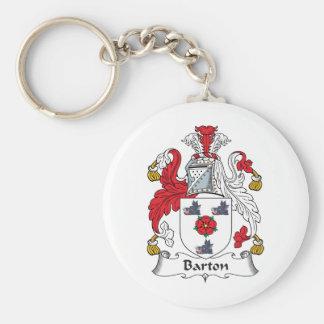 Escudo de la familia de Barton Llavero Redondo Tipo Pin