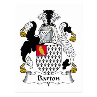 Escudo de la familia de Barton Postal