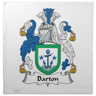 Escudo de la familia de Barton Servilleta