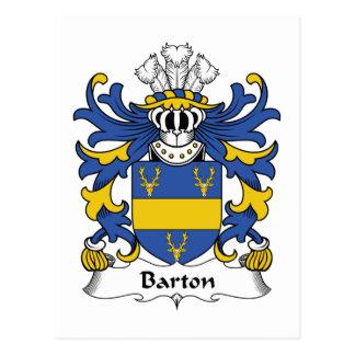 Escudo de la familia de Barton Tarjetas Postales