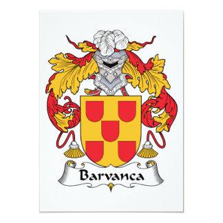 Escudo de la familia de Barvanca Comunicado Personalizado