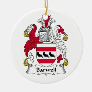 Escudo de la familia de Barwell Adorno Navideño Redondo De Cerámica