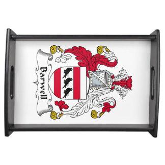 Escudo de la familia de Barwell Bandejas