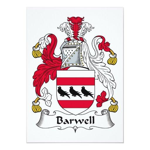 Escudo de la familia de Barwell Comunicados