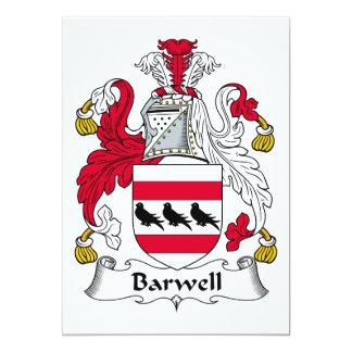 """Escudo de la familia de Barwell Invitación 5"""" X 7"""""""