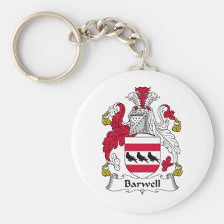 Escudo de la familia de Barwell Llavero Redondo Tipo Pin