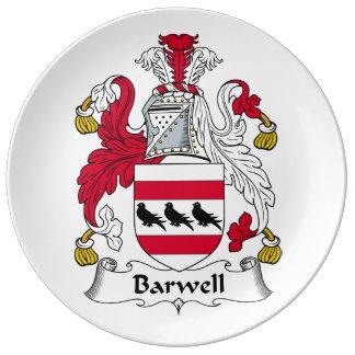Escudo de la familia de Barwell Plato De Cerámica
