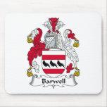 Escudo de la familia de Barwell Tapetes De Ratones