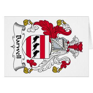 Escudo de la familia de Barwell Tarjeta De Felicitación