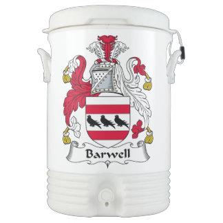 Escudo de la familia de Barwell Vaso Enfriador Igloo