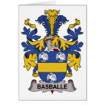 Escudo de la familia de Basballe Felicitacion