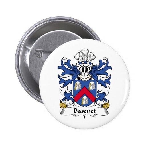 Escudo de la familia de Basenet Pin Redondo 5 Cm