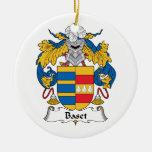 Escudo de la familia de Baset Ornamento De Navidad