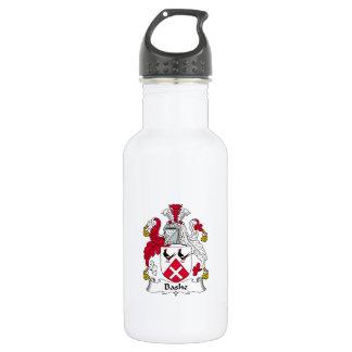 Escudo de la familia de Bashe Botella De Agua De Acero Inoxidable