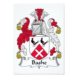 """Escudo de la familia de Bashe Invitación 5"""" X 7"""""""