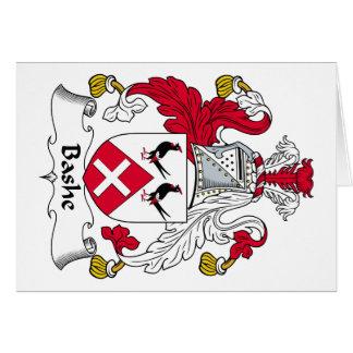 Escudo de la familia de Bashe Tarjeta De Felicitación