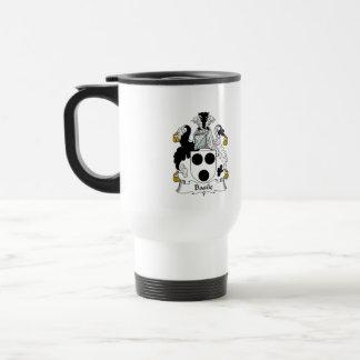 Escudo de la familia de Basile Tazas De Café