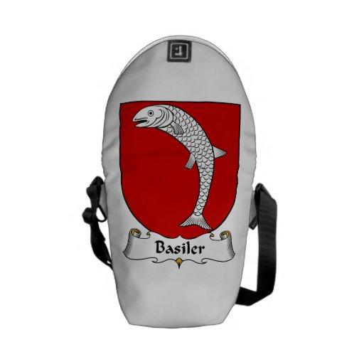 Escudo de la familia de Basiler Bolsas De Mensajería