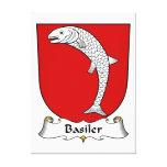 Escudo de la familia de Basiler Lienzo Envuelto Para Galerías