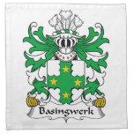Escudo de la familia de Basingwerk Servilletas De Papel