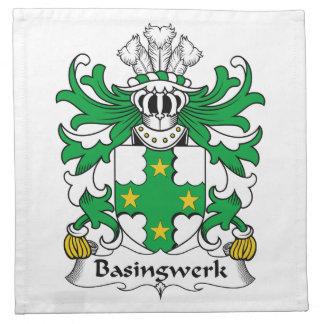 Escudo de la familia de Basingwerk Servilleta De Papel