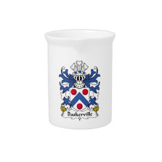 Escudo de la familia de Baskerville Jarra De Beber