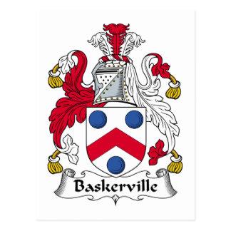 Escudo de la familia de Baskerville Tarjetas Postales