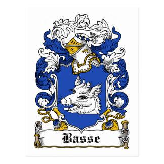 Escudo de la familia de Basse Tarjetas Postales