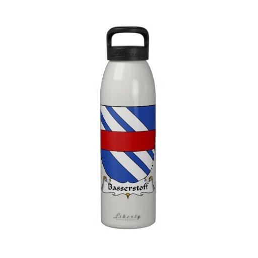 Escudo de la familia de Basserstoff Botellas De Beber