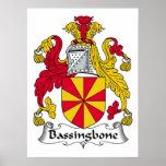 Escudo de la familia de Bassingbone Poster