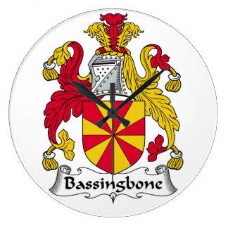 Escudo de la familia de Bassingbone Reloj Redondo Grande