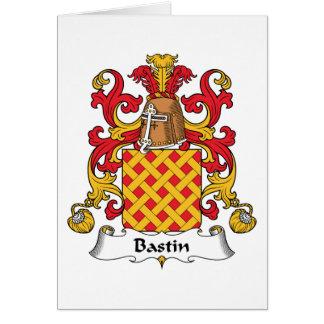 Escudo de la familia de Bastin Tarjeta De Felicitación