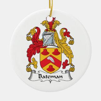 Escudo de la familia de Bateman Adorno Redondo De Cerámica