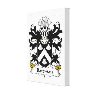 Escudo de la familia de Bateman Lona Envuelta Para Galerías