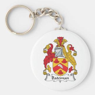 Escudo de la familia de Bateman Llavero Redondo Tipo Pin