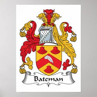 Escudo de la familia de Bateman Póster