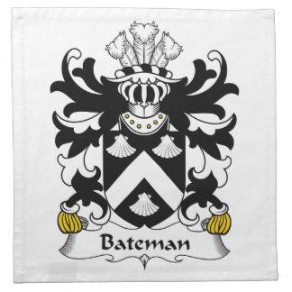Escudo de la familia de Bateman Servilletas De Papel