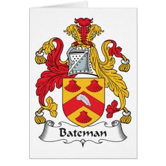 Escudo de la familia de Bateman Tarjeta De Felicitación