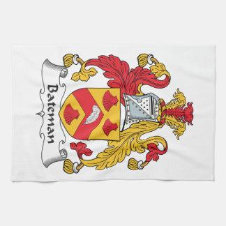 Escudo de la familia de Bateman Toallas De Mano