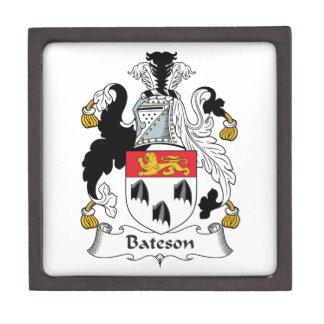 Escudo de la familia de Bateson Cajas De Recuerdo De Calidad