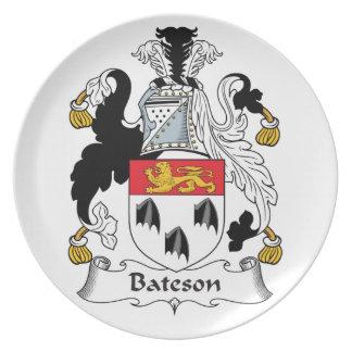 Escudo de la familia de Bateson Plato