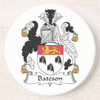 Escudo de la familia de Bateson Posavasos Personalizados