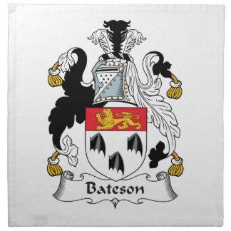 Escudo de la familia de Bateson Servilletas Imprimidas