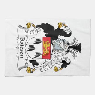 Escudo de la familia de Bateson Toalla De Mano