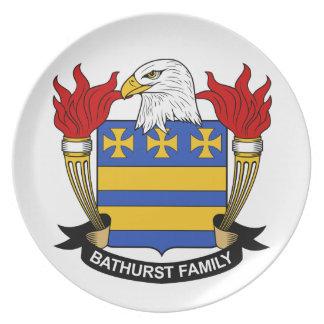 Escudo de la familia de Bathurst Plato De Cena